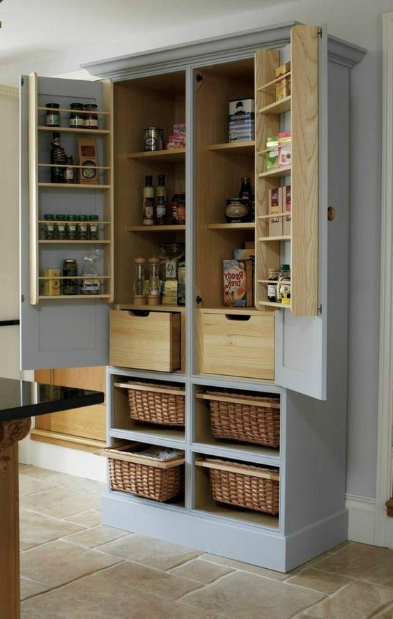 40 diy farmhouse storage cabinet design ideas in 2020 free standing kitchen cabinets kitchen on kitchen organization cabinet id=75451