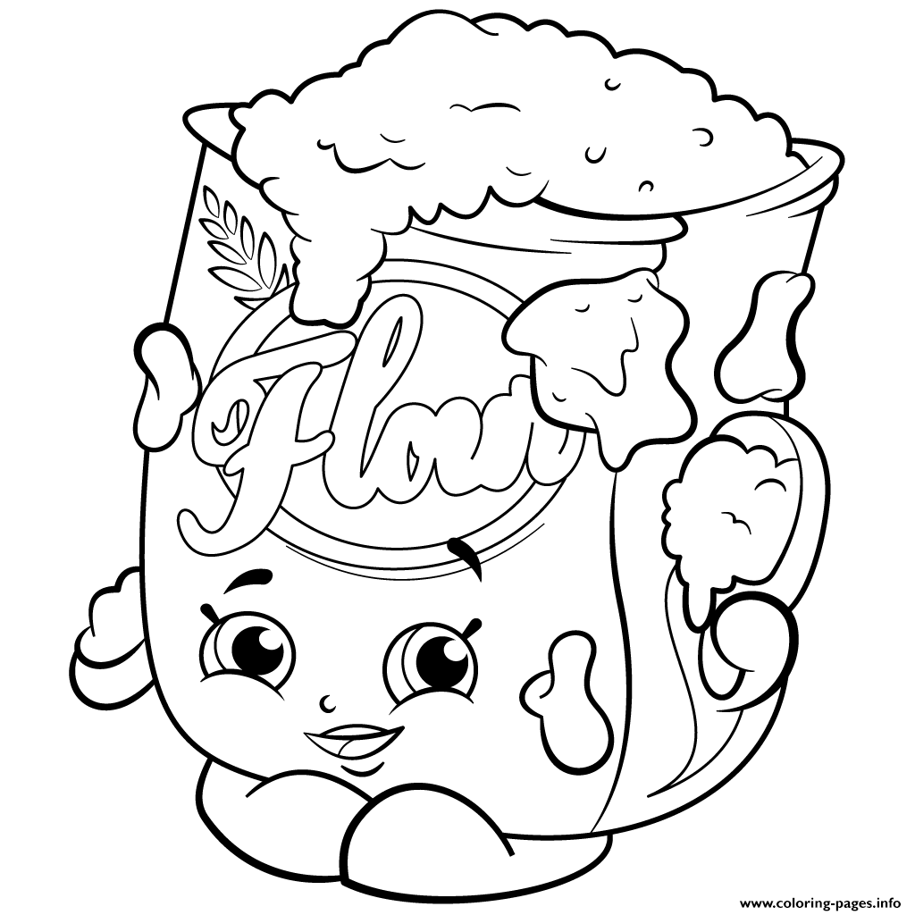 Print Season 2 Flour Shopkins Coloring Pages