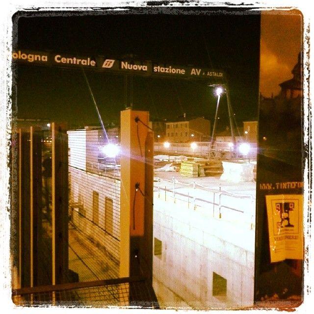 Ho #FoundVerdi che guardava i lavori della nuova #stazione #AV di #Bologna #VerdiMuseum