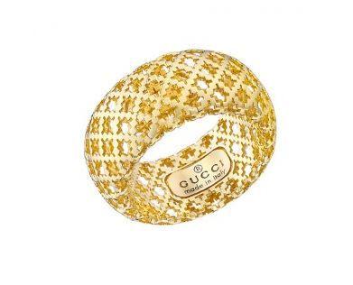 3e816f05a #Gucci Gucci 18ct Yellow Gold & White Enamel Diamantissima Light Ring #gold  #ring