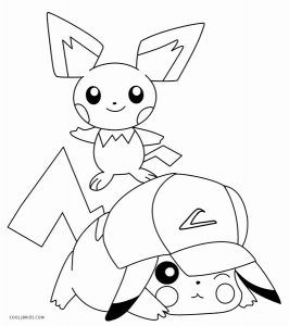Pikachu With Hat Coloring Pages Pikachu Coloring Page Pokemon Coloring Pages Cartoon Coloring Pages