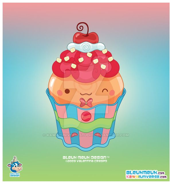 Kawaii Butterscotch Cupcake by KawaiiUniverseStudio.deviantart.com on @DeviantArt