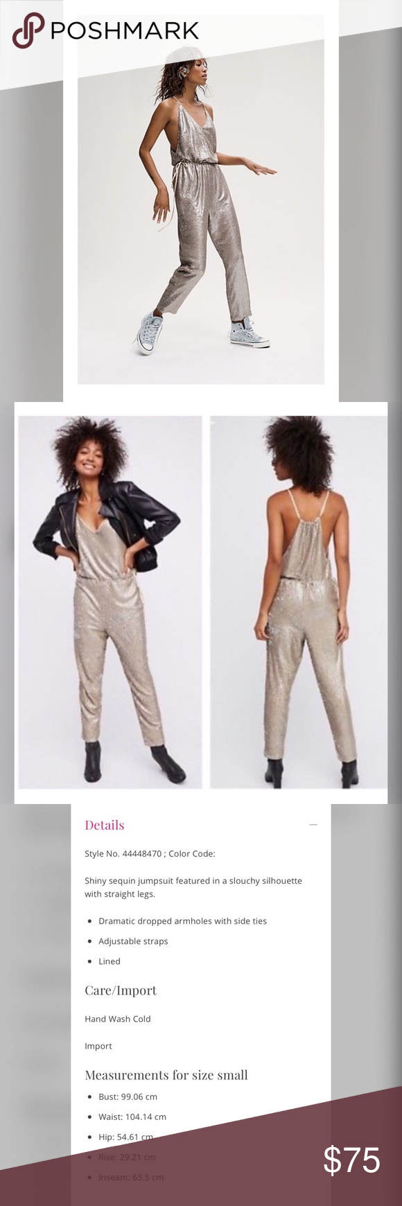Free People Sequin Pantsuit In 2018 My Posh Picks Sequins