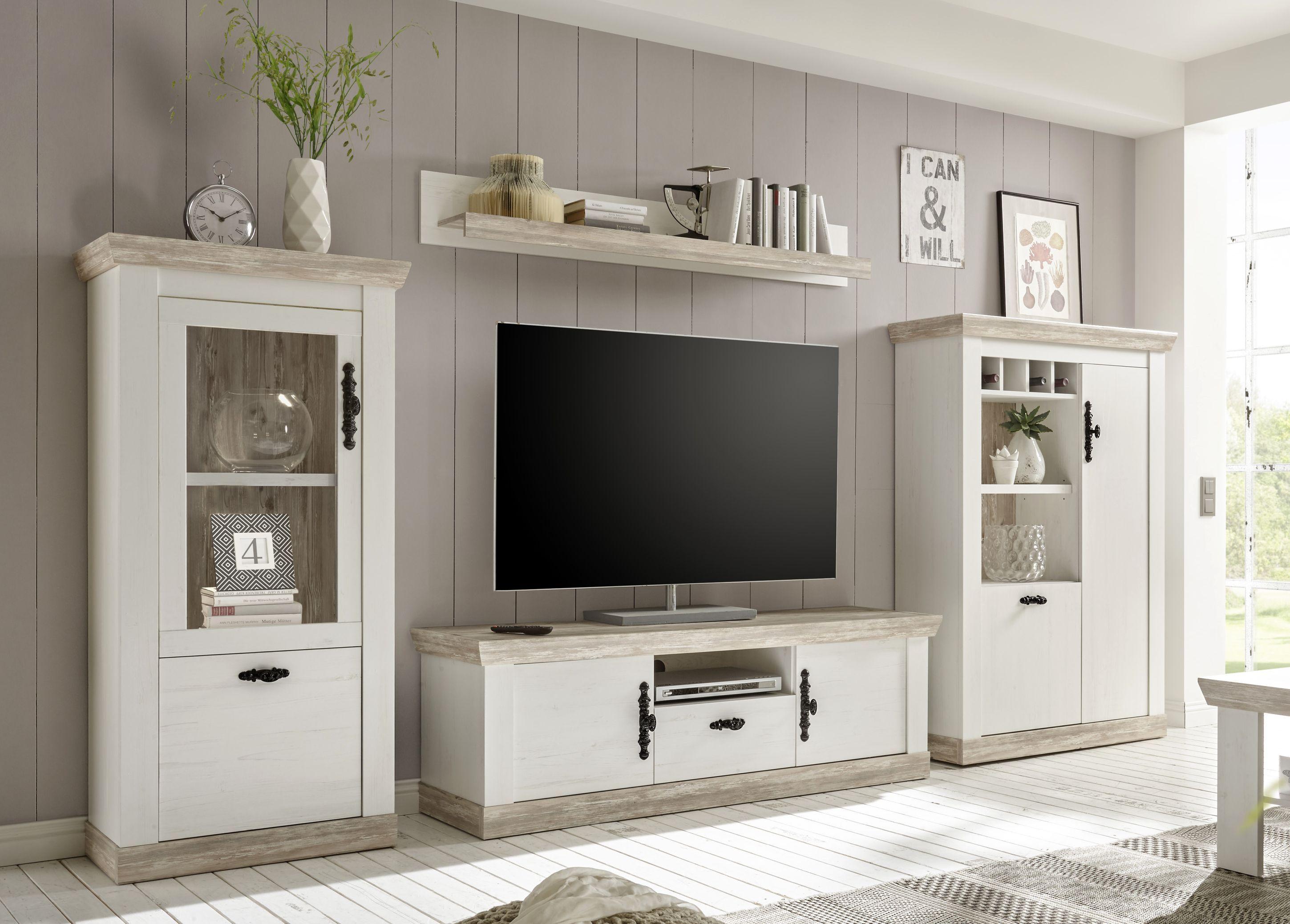 Florenzia F10 Wohnwand Ohne Beleuchtung  Möbel wohnzimmer