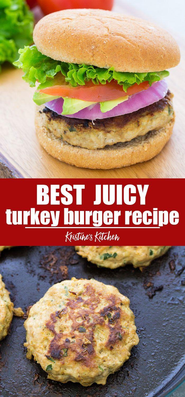 Turkey Burger Recipe - Juicy, Flavorful, Easy Recipe!