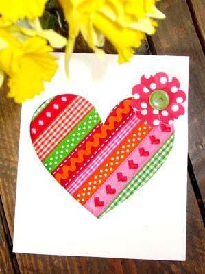 Diy Carte Cœur Rubans Pour La Saint Valentin Cartes Coeur