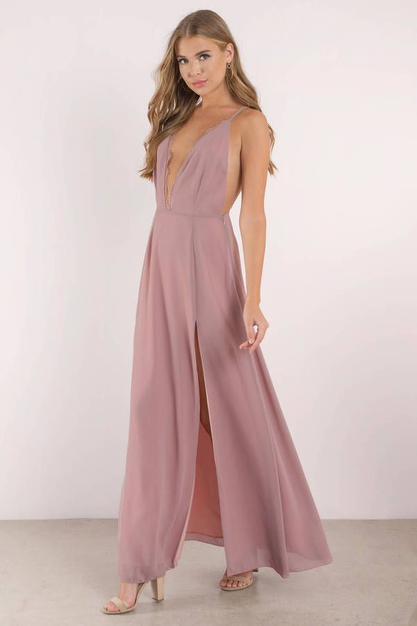 419db6d6e2f Raelyn High Slit Maxi Dress in 2019