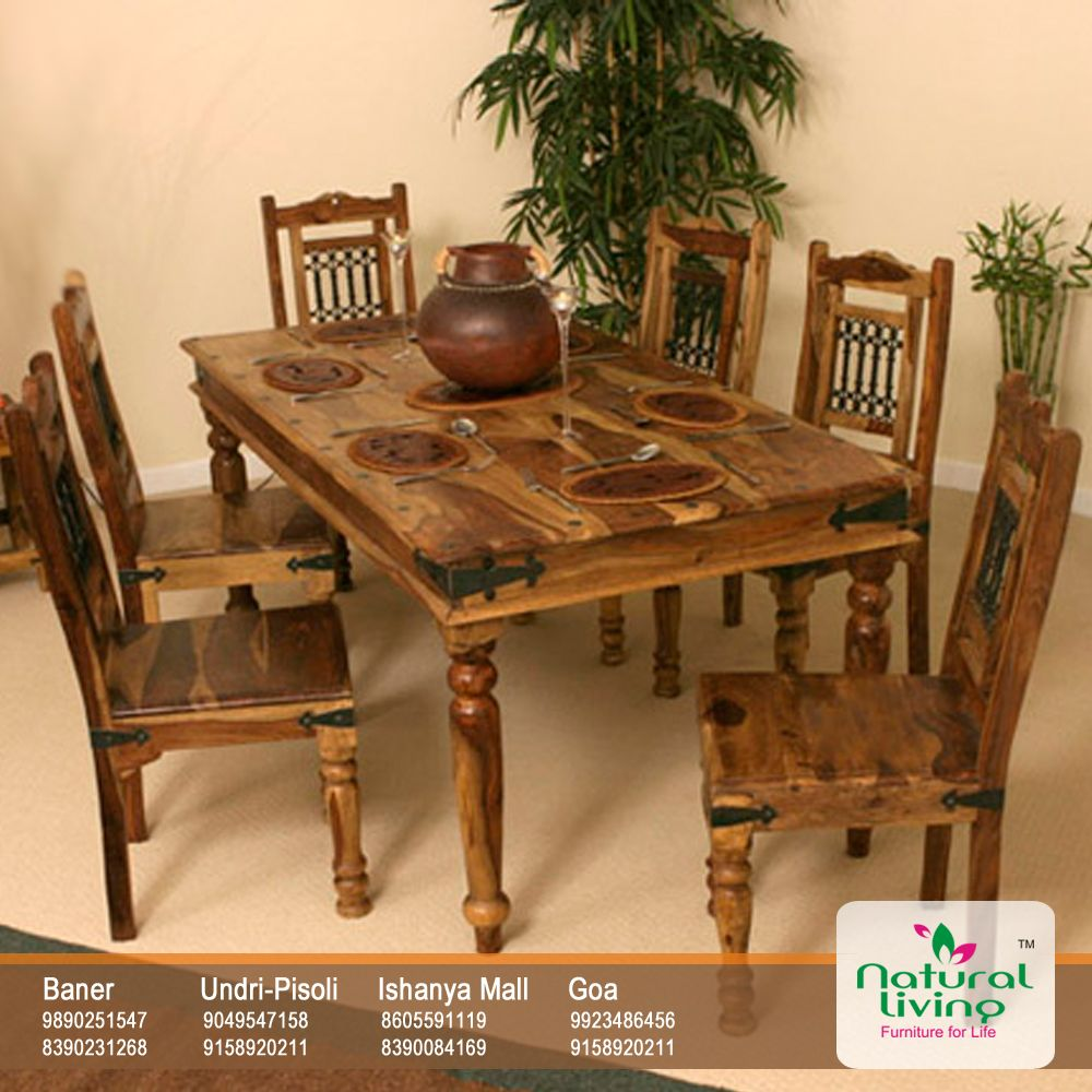 Cane Sofa In Pune: Circular Dining Table With Caged (jaali) Back Chairs, Is