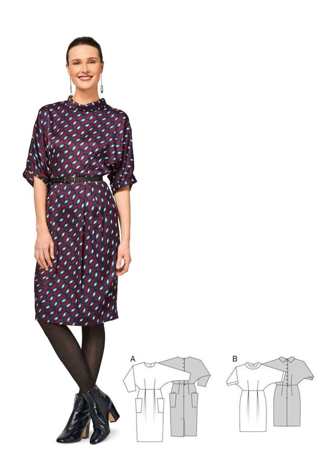 Kleid H/W 2017 #6451 | Burda style, Mode und Produkte