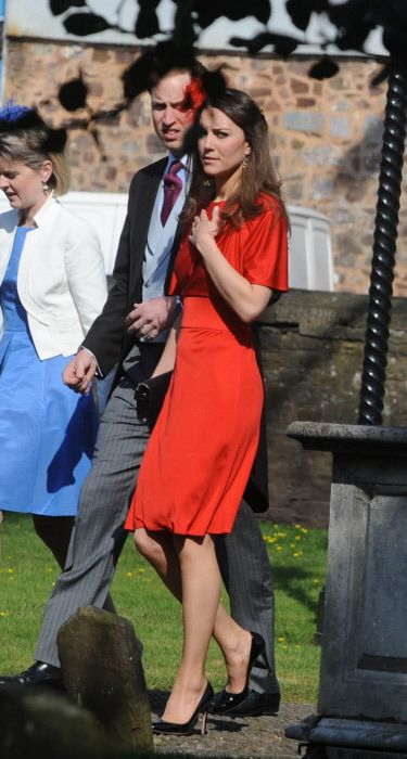 On 17 April 2010 Kate Middleton And Prince William Attended The Wedding Of David