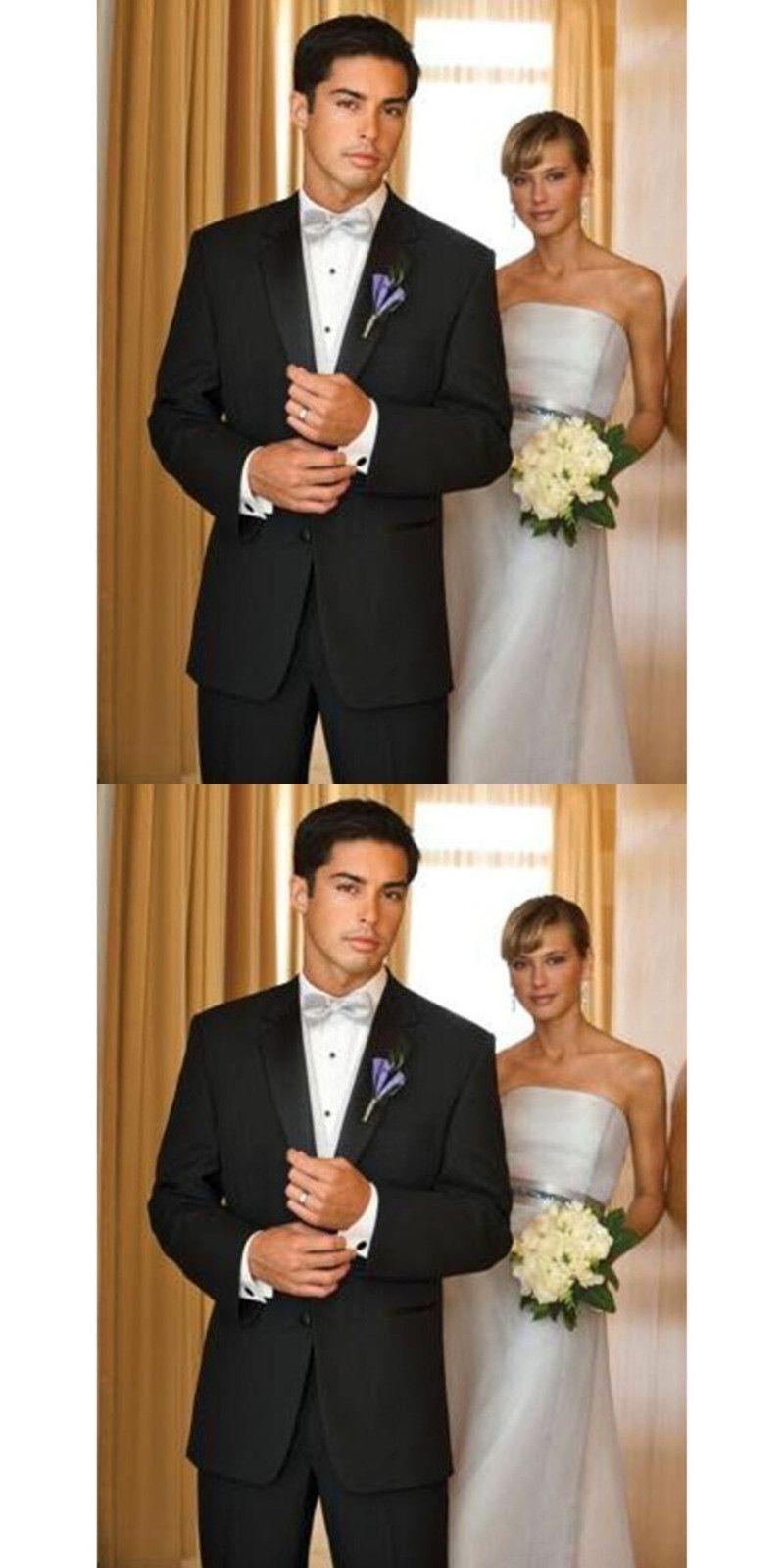 Custom made groom tuxedos black business slim man suit wedding party