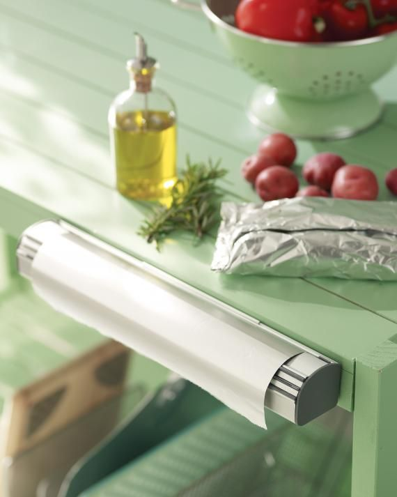 No more fumbling for the foil when you're getting the burgers off the grill. Mount a dispenser to a counter's edge for easy access.