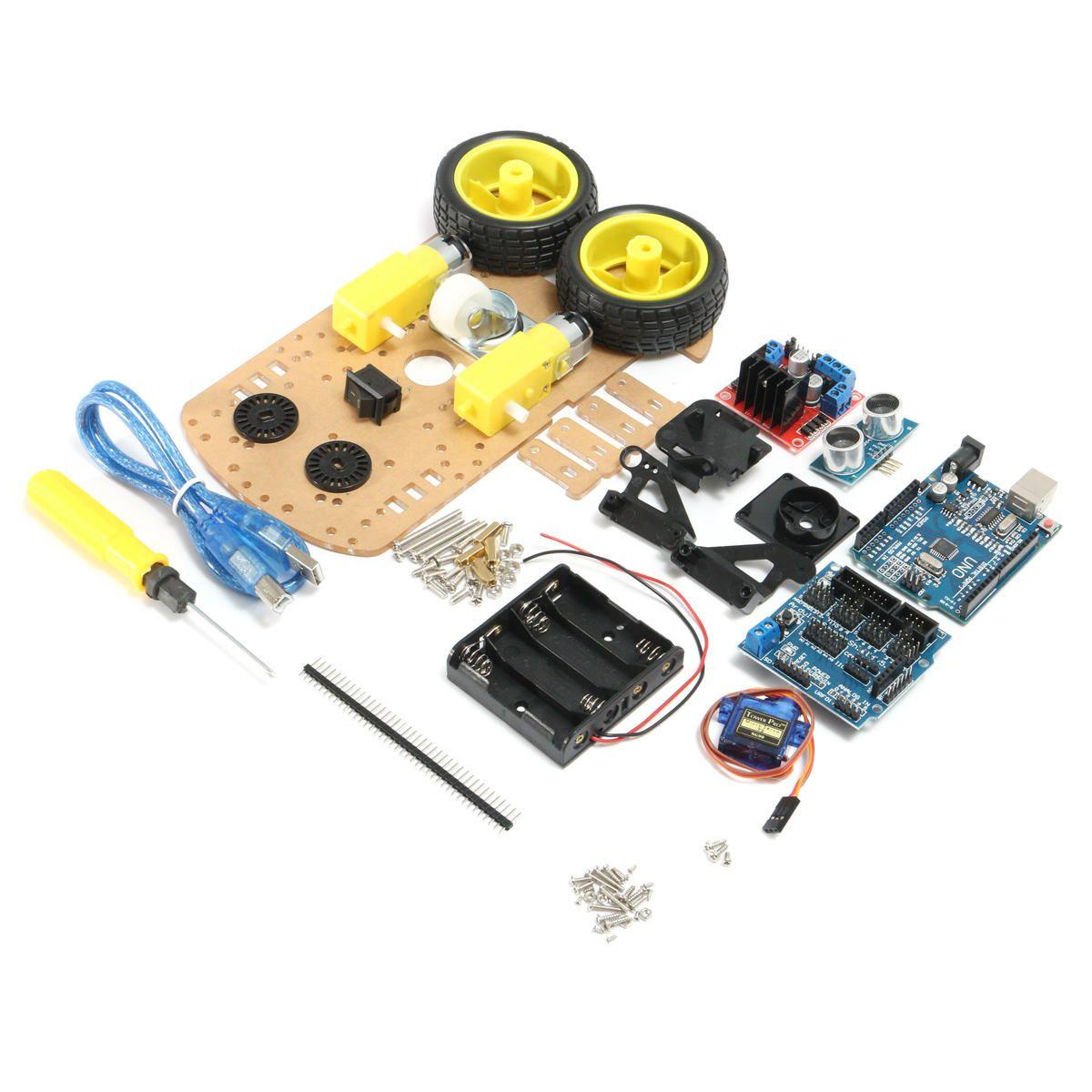 Smart Robot Car Chassis 2WD Kit Ultrasonic Module Smart Car kit UNO R3