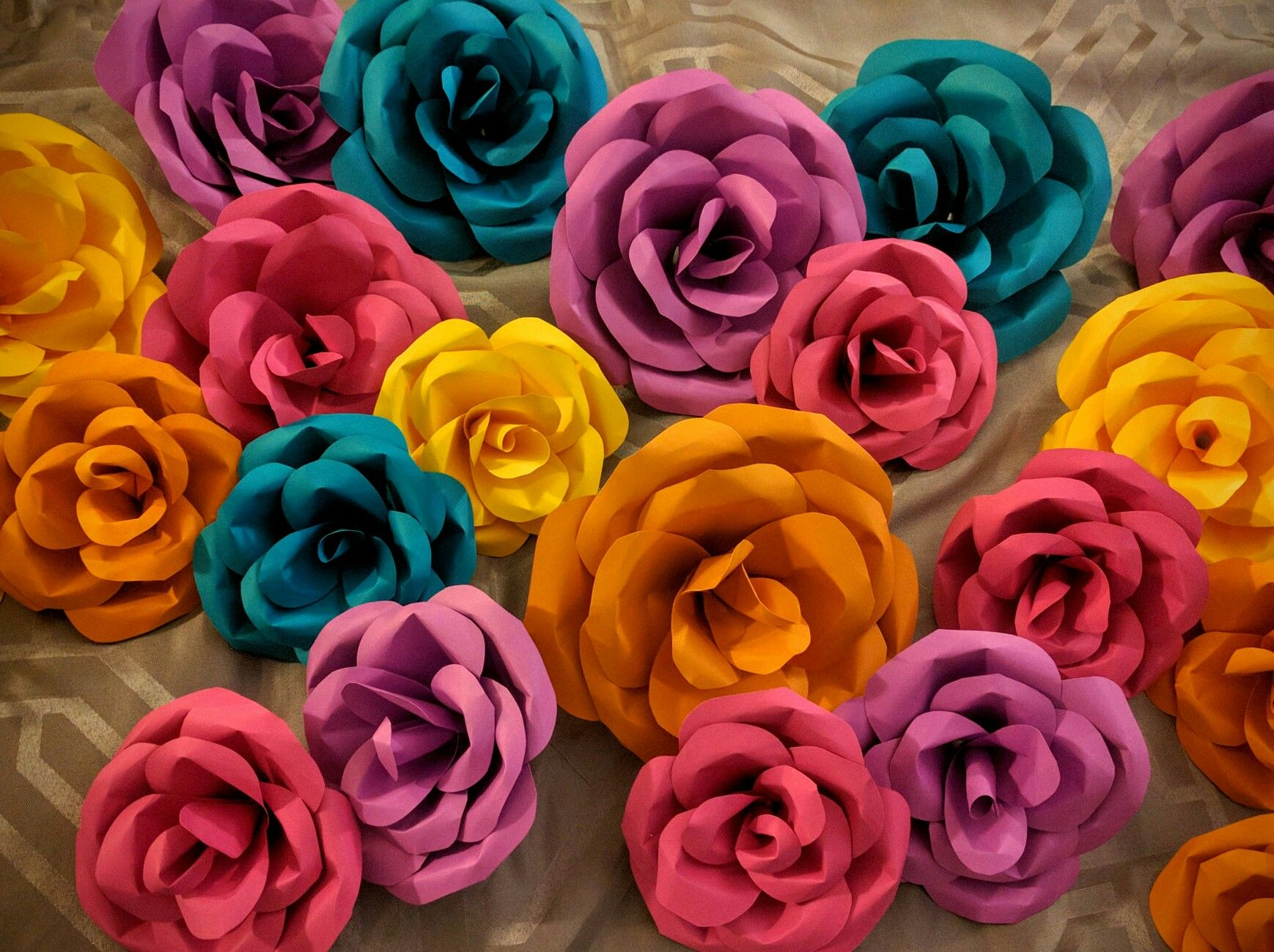 Paper Flowers Jungle themed bridal party Contact me for more
