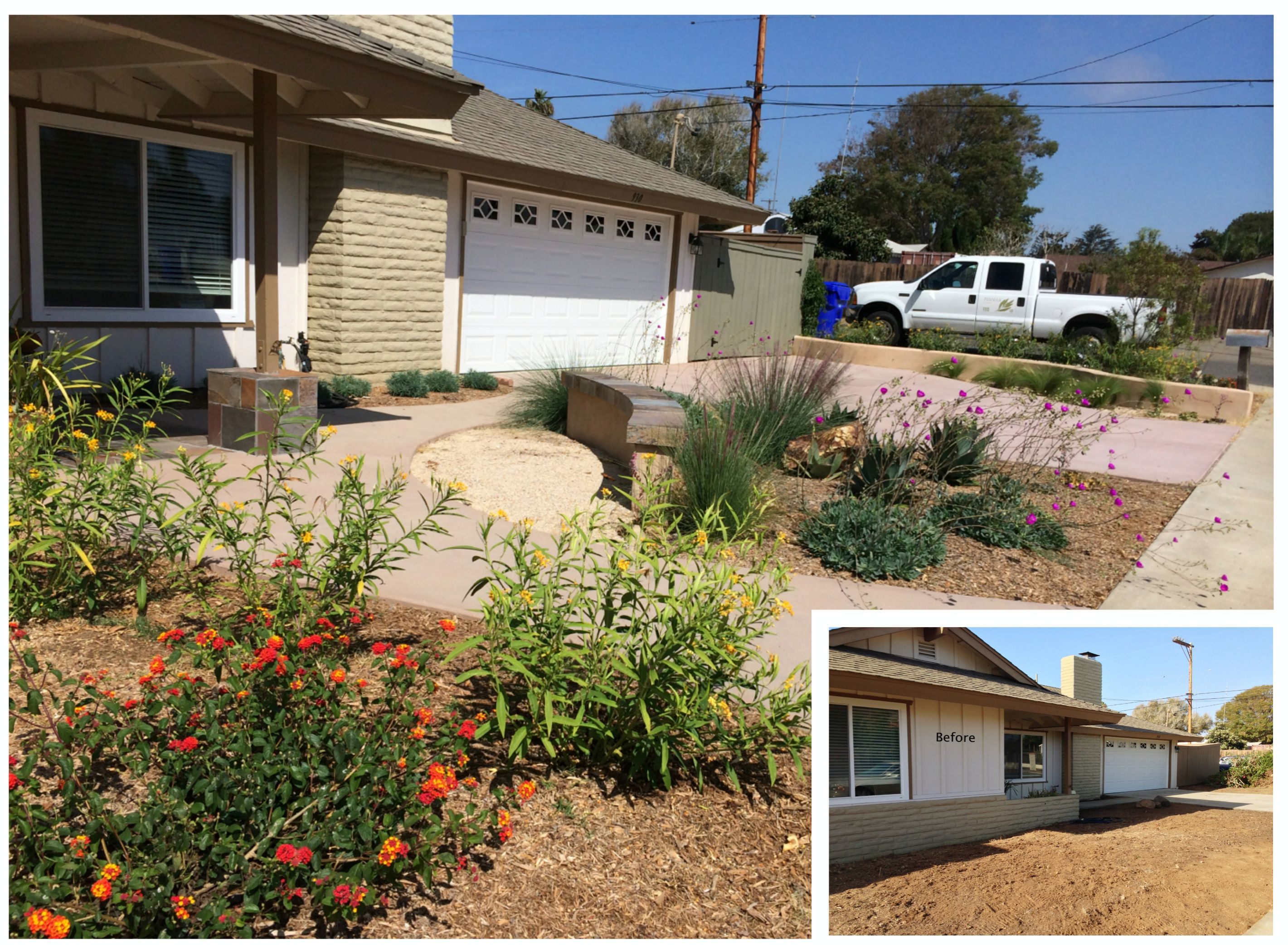 south oceanside xeriscape front yard renovation molina u0027s