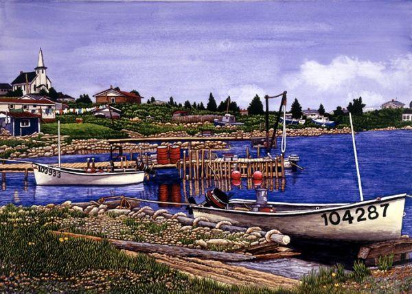 Thelma winter art on pinterest fishing villages fishing for Nova scotia fishing