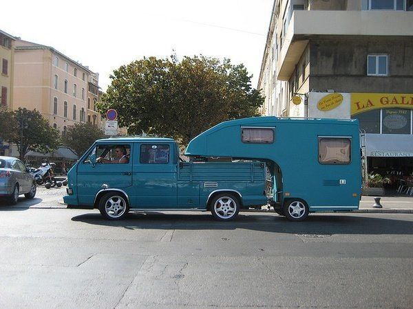 custom vw 5th wheel travel trailer i thought this was pretty cool - Small 5th Wheel Trailers
