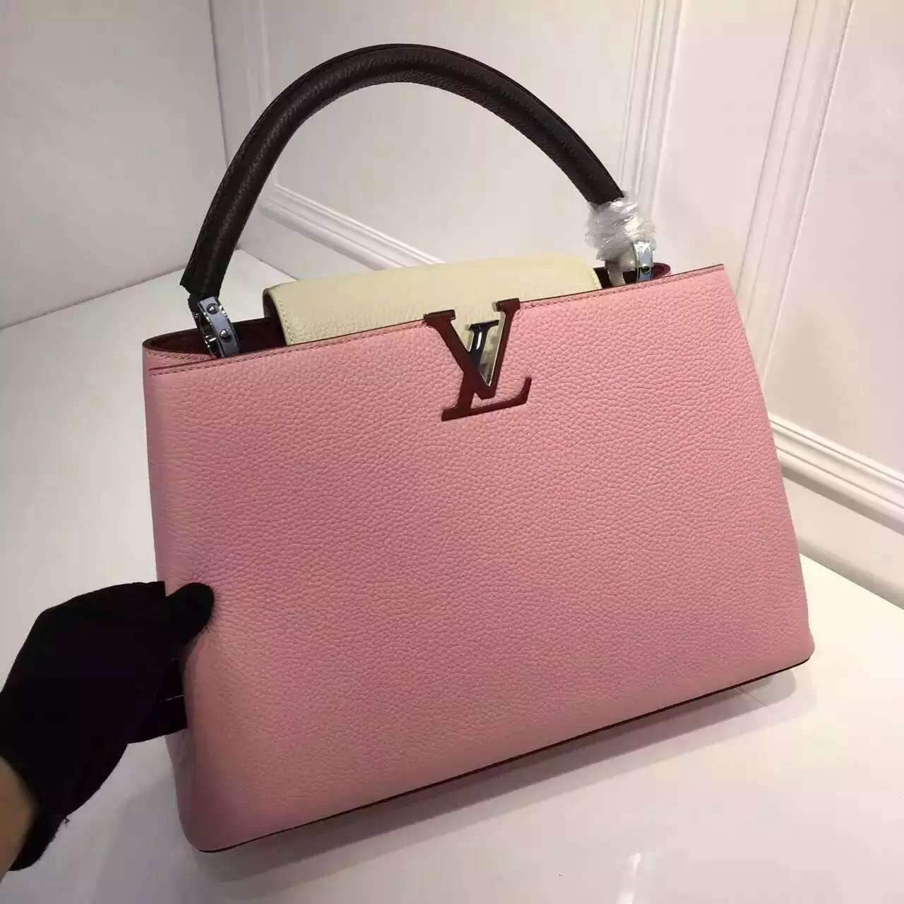 Louis Vuitton Grained Calfskin Multicolor Capucines MM Bag Capucines  Designer Bags For Less, Bag Sale e53a7256f0