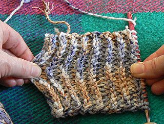 """Even though I optimistically called one type of combo a """"Rib Combo"""", that's not the best way to mimic knit rib. It works much better to do it sideways in tunisian crochet. However…"""