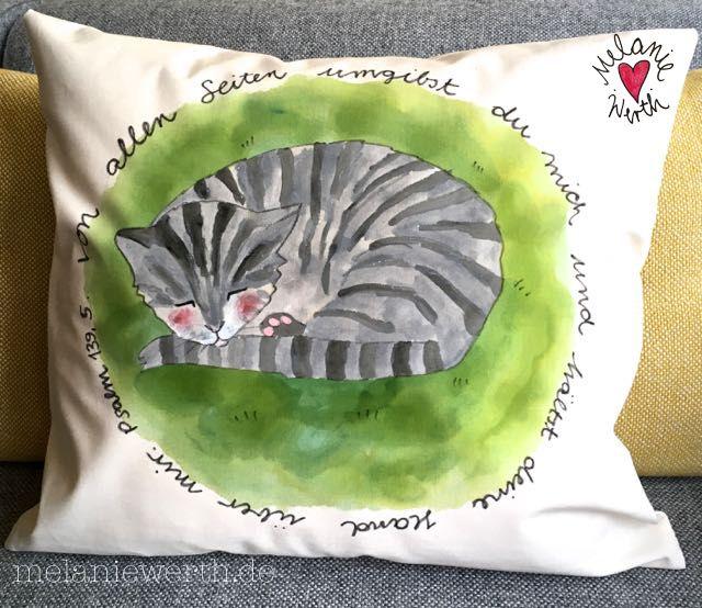 schlafende katze taufe geschenk pate besondere geschenke zur taufe bleibende geschenke. Black Bedroom Furniture Sets. Home Design Ideas