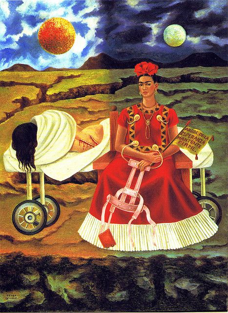 Frida Kahlo - Self-Portrait - Tree of hope, stand