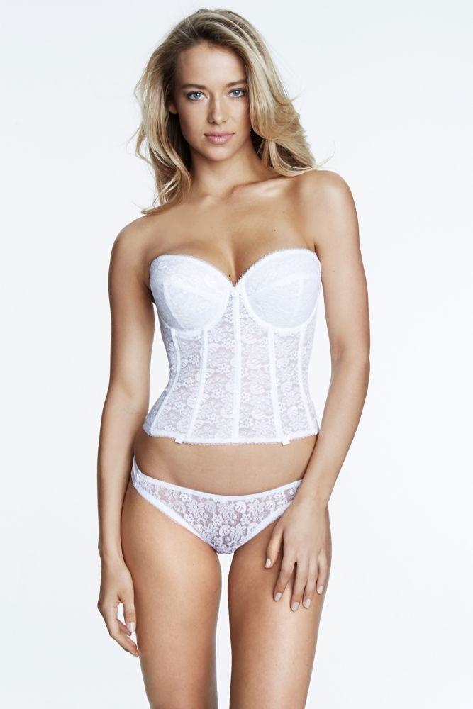 Dominique Lace Bridal Braselette - White, 34B | *Lingerie > Bras ...