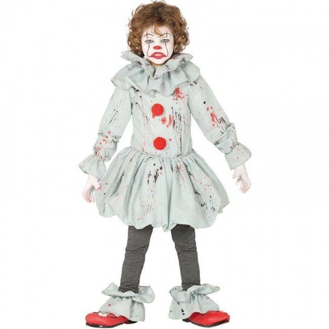Effrayant Clown Costume enfants Halloween Horreur Clown Fancy Dress Outfit M L