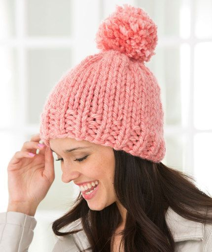 Create Some Charm Hat Red Heart free pattern worked flat and seamed ...