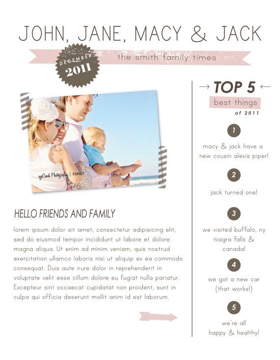 cute newsletter template Professional Pinterest Newsletter - holiday newsletter template