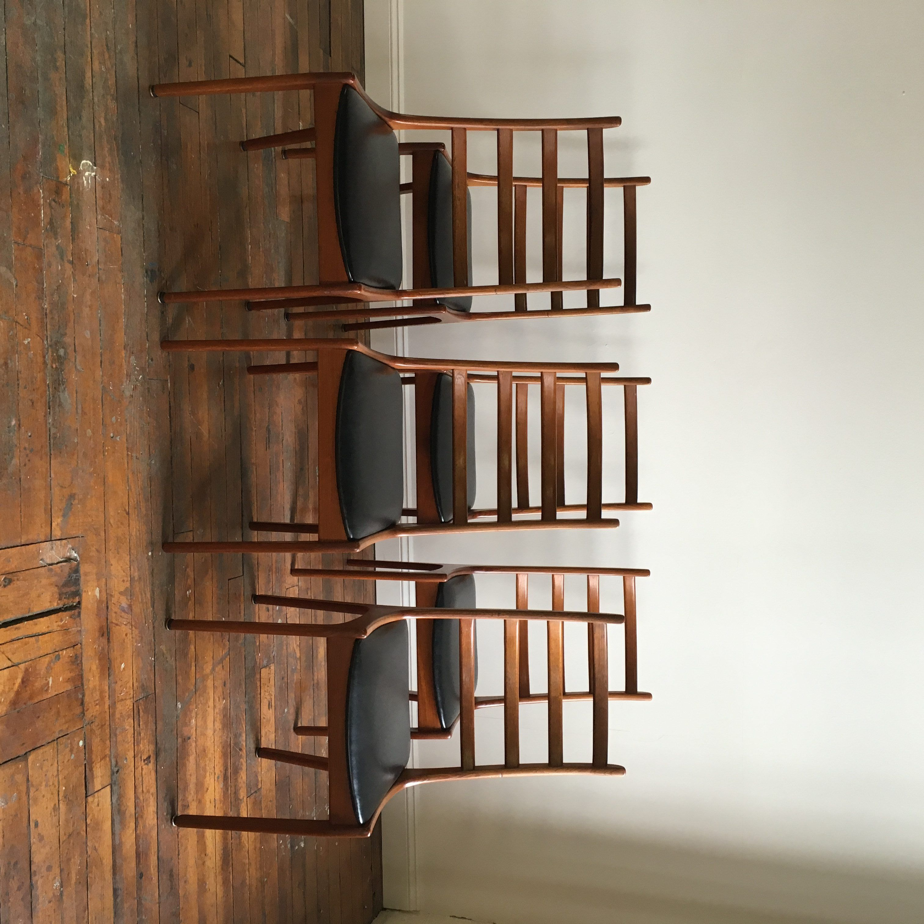 Set Of 6 Danish Modern Ladder Back Dining Chairs Designed By Kai  Kristiansen. For Sale