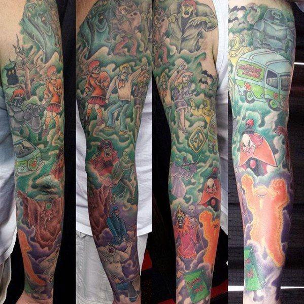 60 Scooby Doo Tattoo Designs For Men Cartoon Ink Ideas Scooby Doo Tattoo Tattoo Designs Men Tattoo Designs
