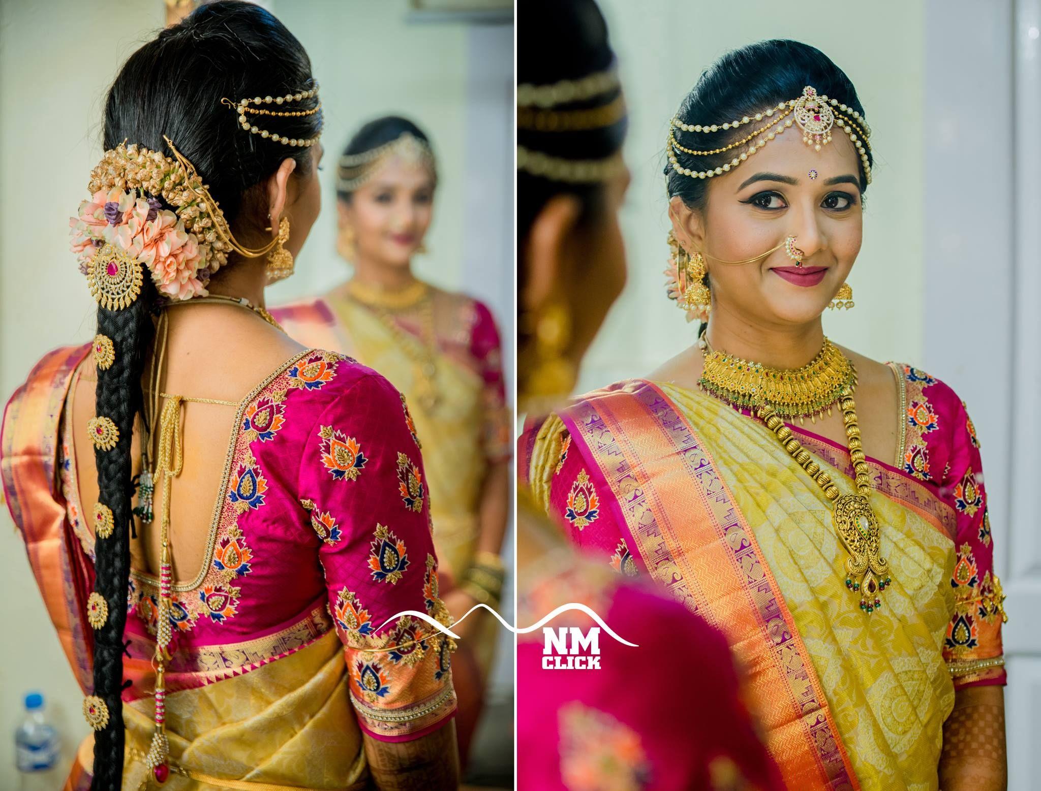 bridal hairstyle   poojadai   veni   bridal inspiration   dolls