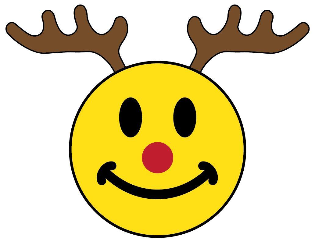 xmas_smiley_face_rudolph.jpg (1033×804) | smileys | Pinterest