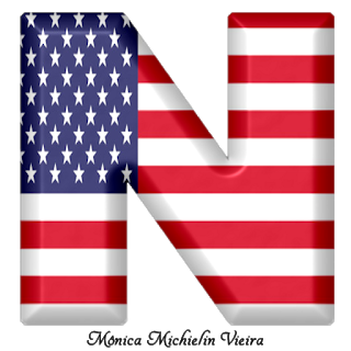 Abecedario Con La Bandera De Usa Usa Flag Alphabet Bandera De Usa Alfabeto Monograma Decoracion De Capitan America