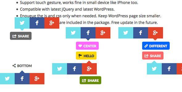 Share Button WordPress Plugin . Help you to add Twitter, Facebook ...