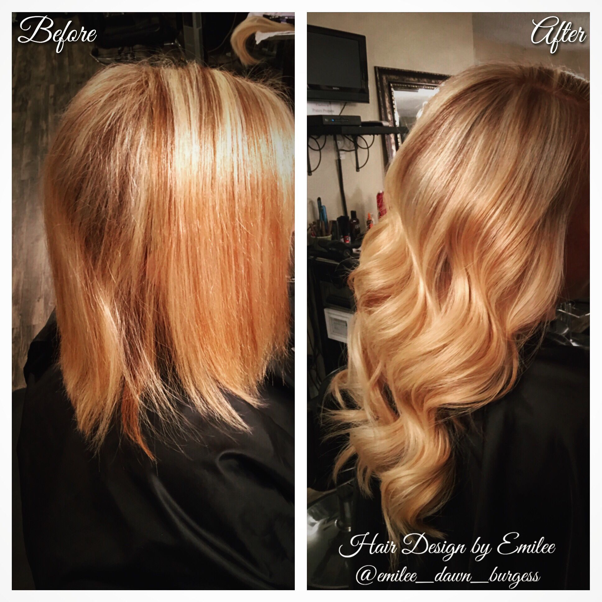 Color Cut And Hotheads Hair Extensions By Me Beautiful Strawberry