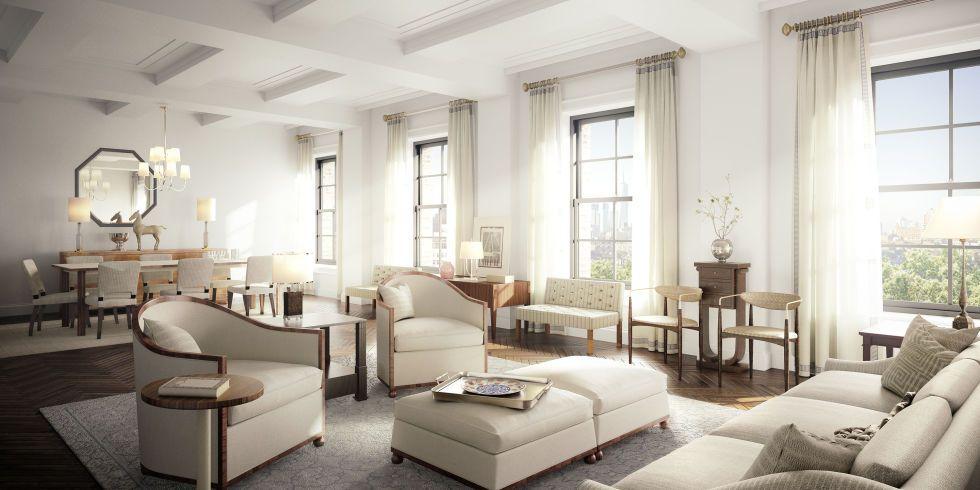 Whiteinterior Shadesofwhite Michael Kors New York Apartment Photos Of