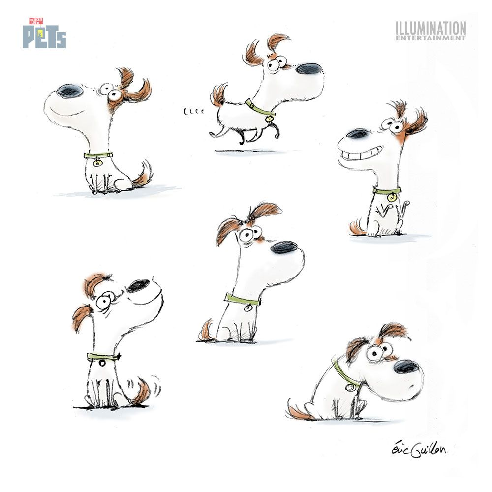 Personagens De Eric Guillon Para O Filme The Secret Life Of Pets Thecab The Concept Art Blog Cartoon Character Design Dog Drawing Character Design Animation