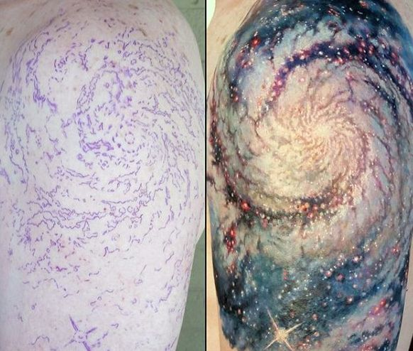 70 Outer Space Tattoos For Men Galaxy And Constellations Inked