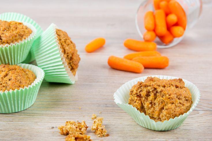 Svieže mrkvové muffiny