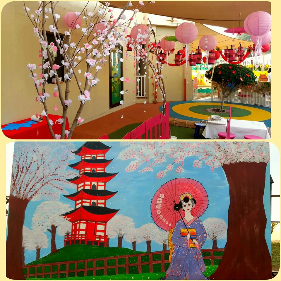 The japan area at our international day at nursery what a for International seating and decor