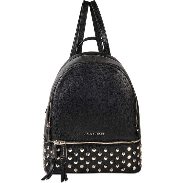 c00948a9685a Michael Michael Kors Rhea Zip medium studded Back Pack ($350) ❤ liked on  Polyvore
