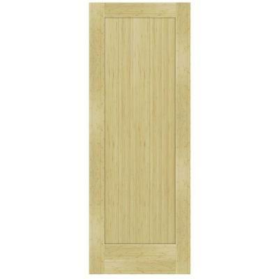 Steves U0026 Sons 1 Panel Shaker Solid Core Unfinished Bamboo Interior Door  Slab M64QBNNNAC99