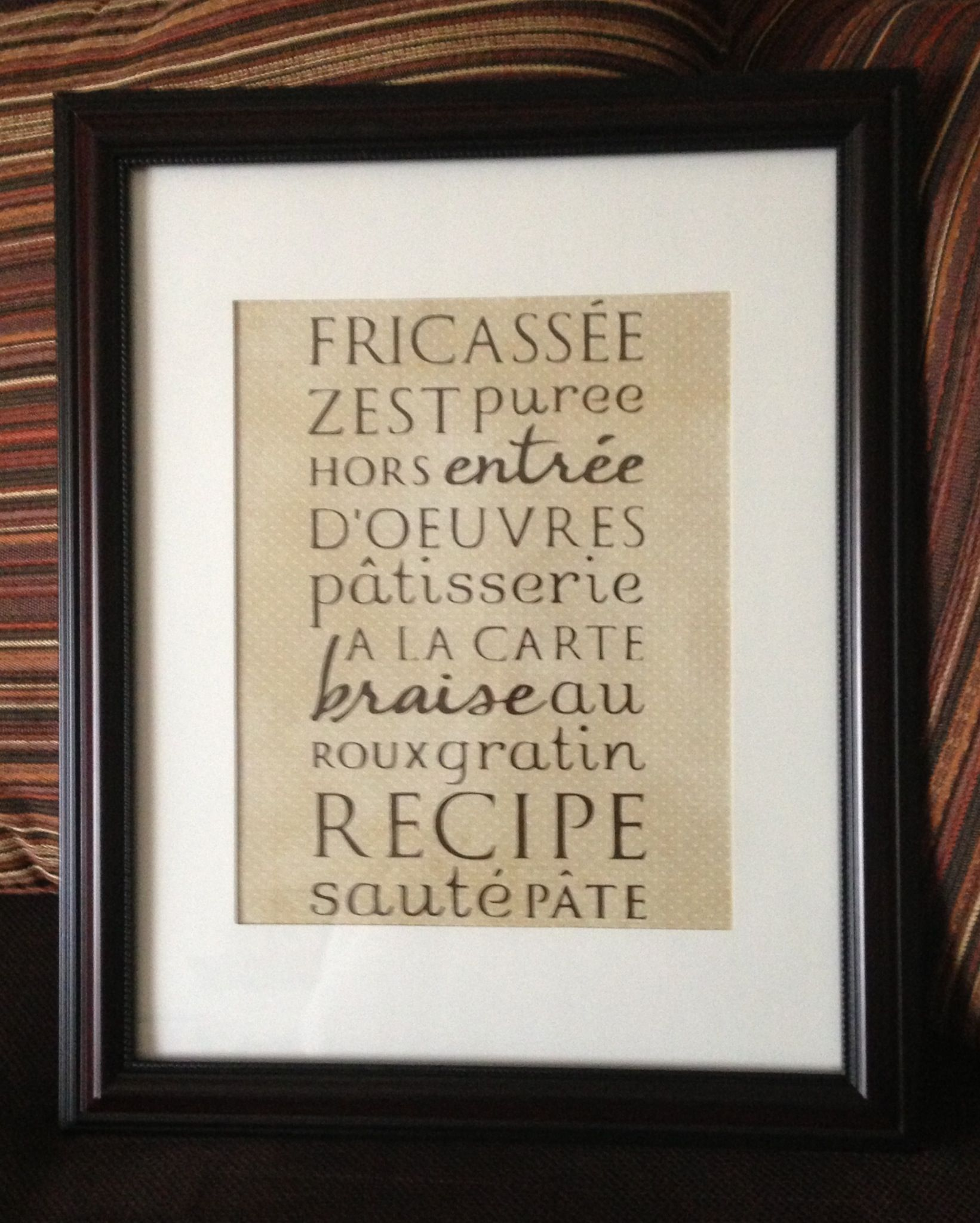 Made this with cricut word collage cartridge. Word