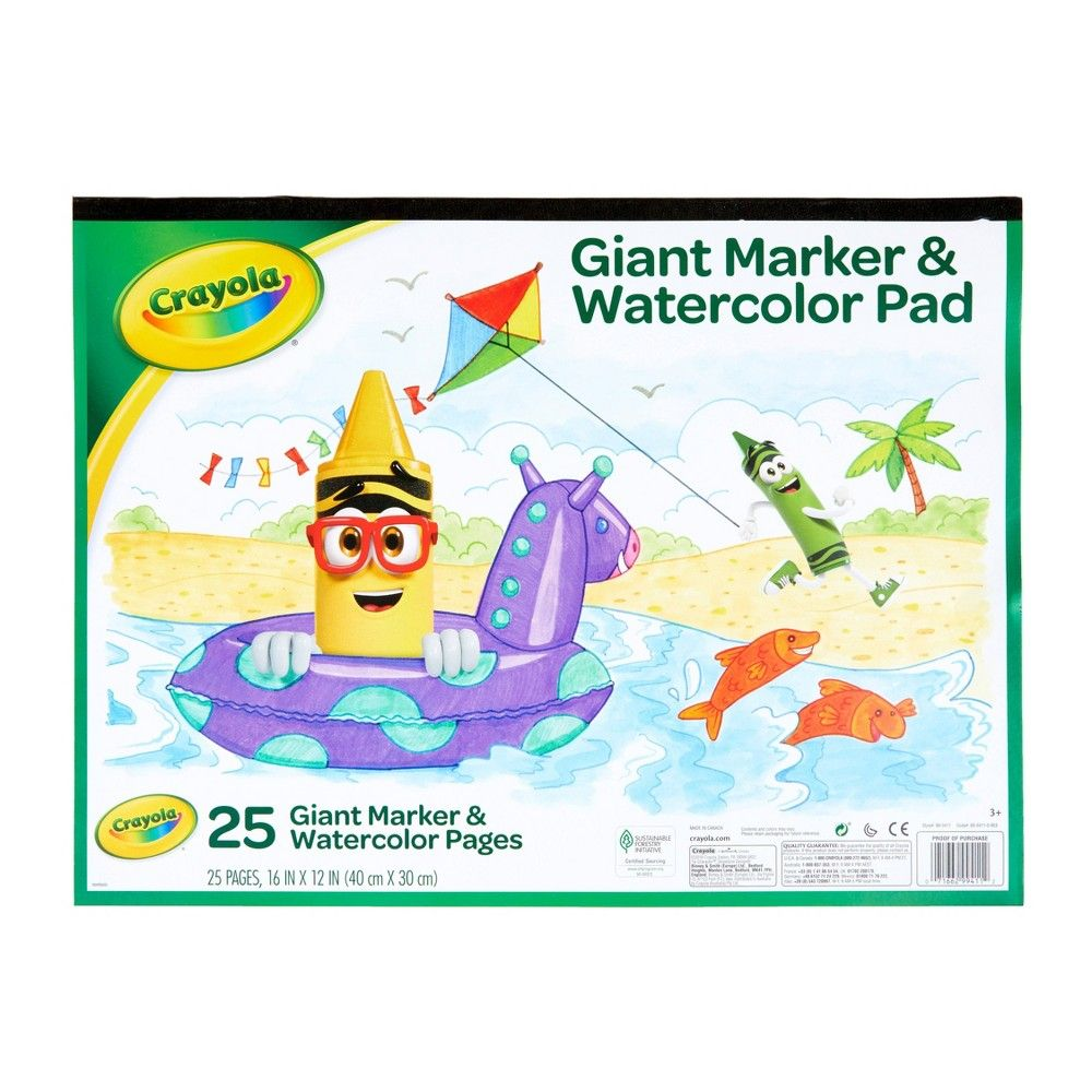 Crayola Giant Marker Watercolor Pad 25pgs White Crayola Art