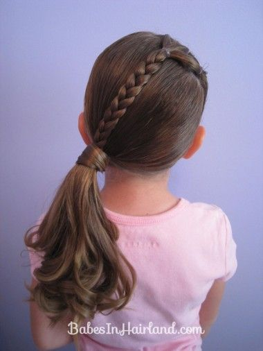 Ponytails And A Braid 9 Girls Hairstyles Easy Kids Braided Hairstyles Hair Styles