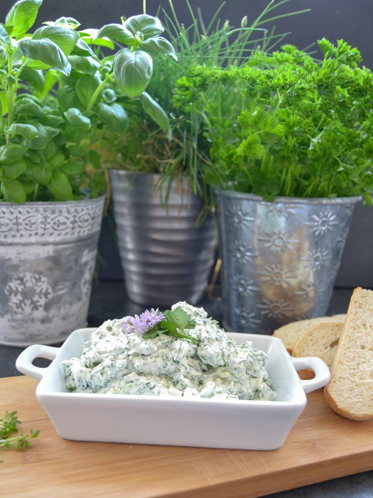 Frischkäse Dip Rezept mit Gartenkräutern