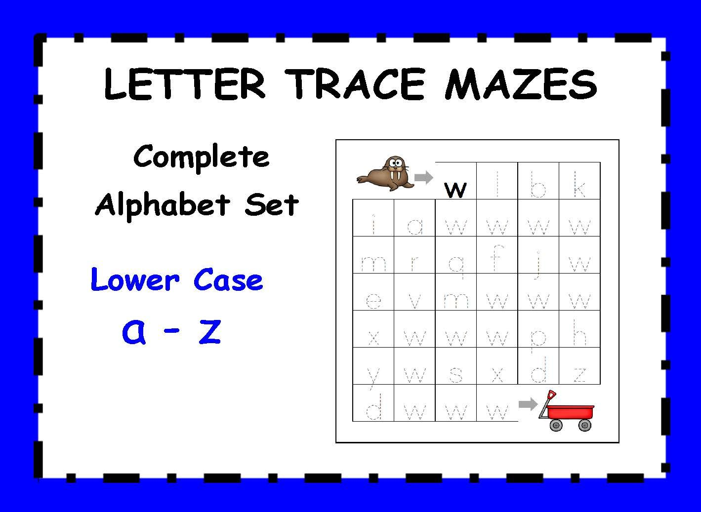 Letter Trace Mazes