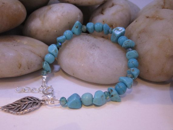 Check out this item in my Etsy shop https://www.etsy.com/listing/216757240/howlite-turquoise-chip-bracelet