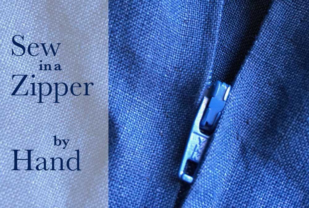 How To Sew In A Zipper By Hand The Daily Sew Sew Zipper Hand Sewing Kits Sewing